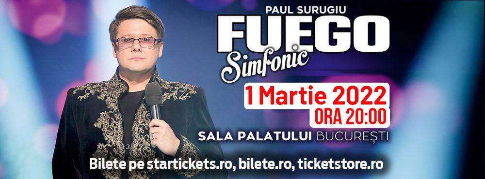 Concertul lui Paul Surugiu-Fuego de la Sala Palatului a fost reprogramat pentru data de 1 martie 2022, ora 20:00