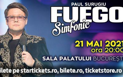 Concert Fuego – Pop Simfonic la Sala Palatului – 21 mai 2021!