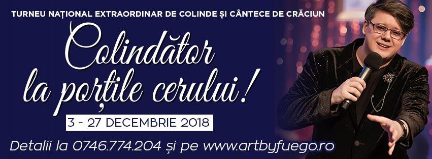 """Turneu național de colide și cântece de Crăciun Paul Surugiu-Fuego – """"Colindător la porțile cerului!"""""""